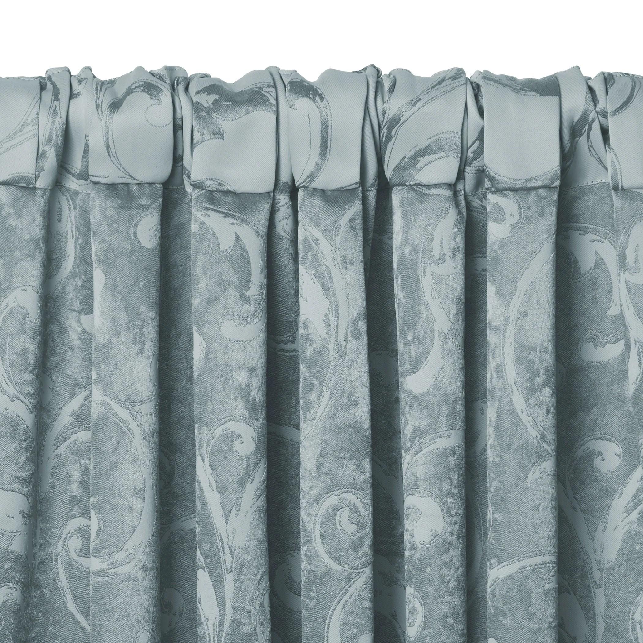 Elrene Mia Jacquard Blackout Scallop Window Valance