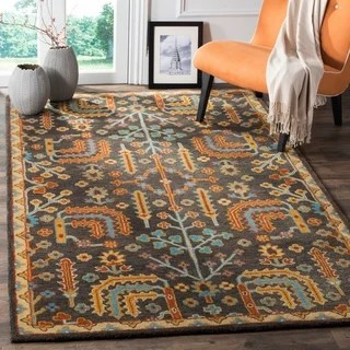 Hand Hooked Charlotte BlueGreen Rug 5 X 76 Free