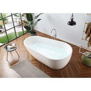 AKDY 67 Inch OSF277 AK Oval Europe Style White Acrylic Free Standing Bathtub Free Shipping