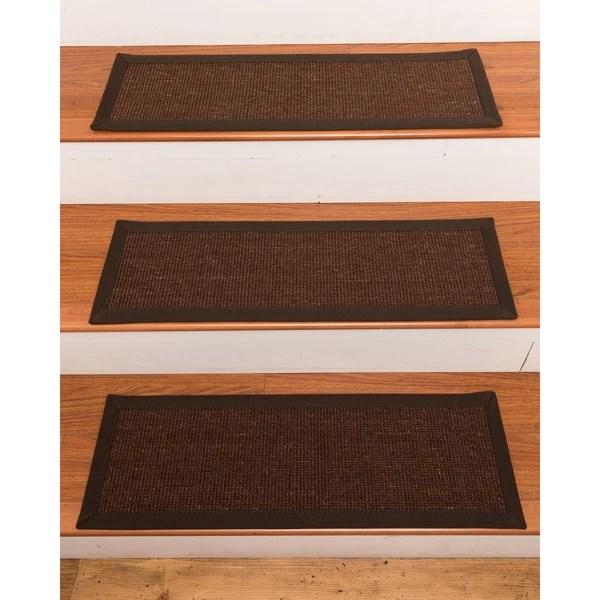 Shop Grayton Wool Sisal Carpet Stair Treads Set Of 13 13Pc 9   Wool Carpet Stair Treads   Zealand Wool   Bullnose Padded   Flooring   Plush Carpet   Cat Pet