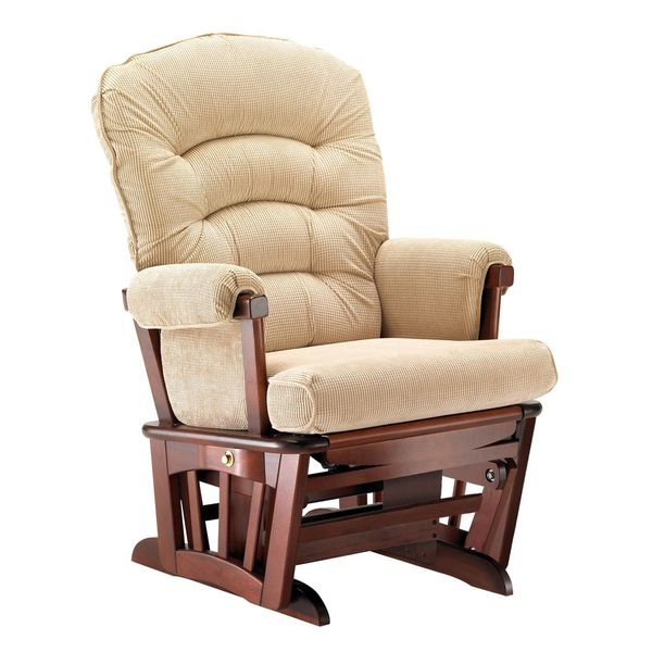 shop shermag cabaret camel wood wide glider chair Shermag Glider Chair id=94507