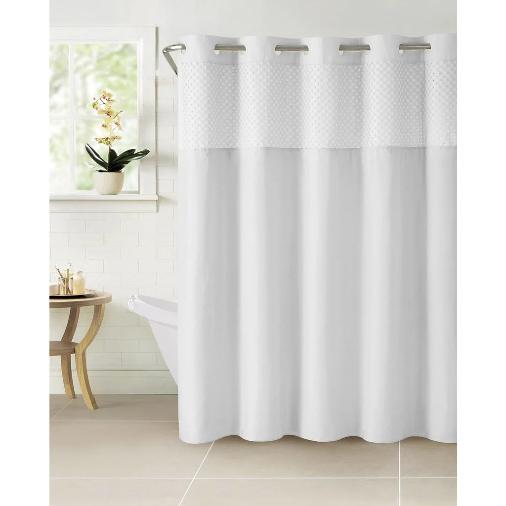 hookless bahamas shower curtain with snap on liner