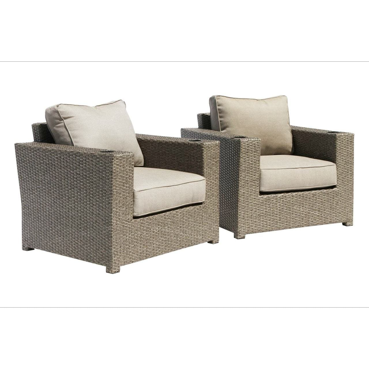 living source international chelsea cup holder wicker patio chairs
