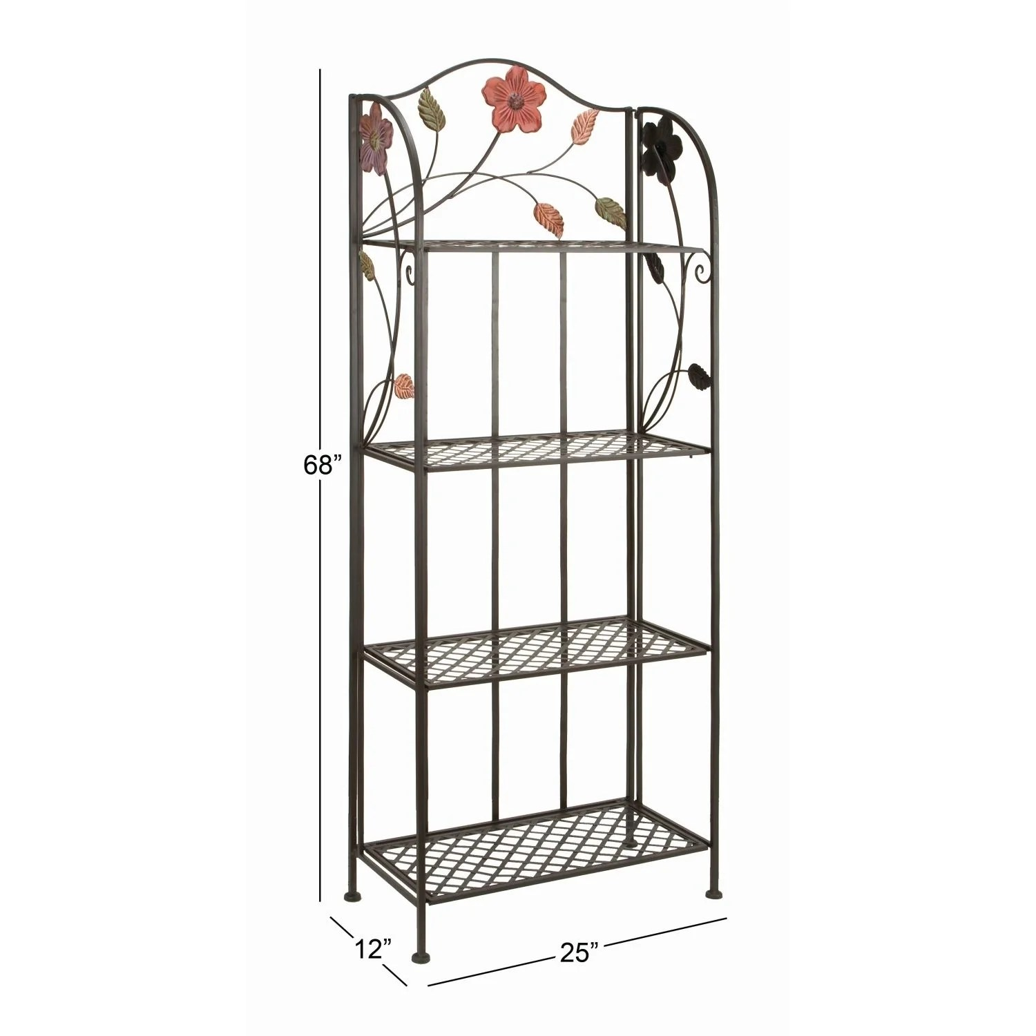 studio 350 metal bakers rack 68 inches high 25 inches wide 12 inches d