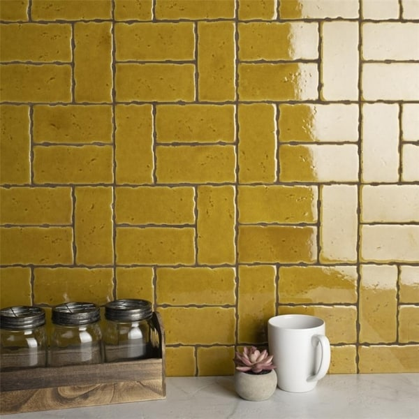 yellow tile find great home