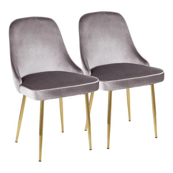 Shop Lumisource Marcel Contemporary Dining Chair Set Of 2 Overstock 17652284