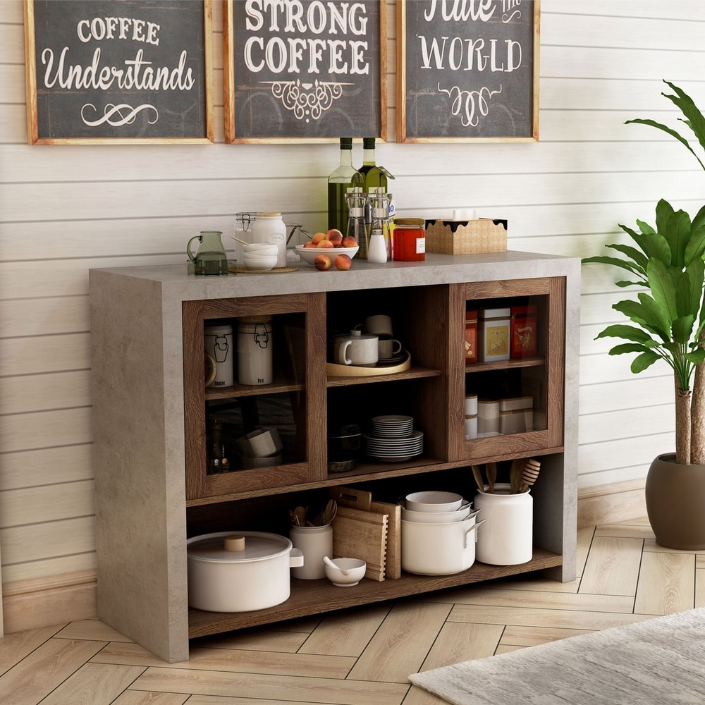 Buy Buffets Sideboards China Cabinets Online At Overstock Our Best Dining Room Bar Furniture Deals