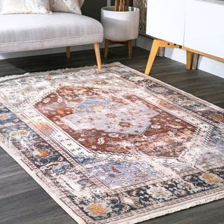 Shop NuLOOM Traditional Vintage Tribal Medallion Grey Rug 53 X 77 On Sale Free Shipping