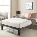 Twin Xl Size Bed Frame Heavy Duty Steel Slats Platform Series Titan C Black Crown Comfort Overstock 18049190