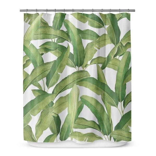 banana leaves shower curtain by marina gutierrez