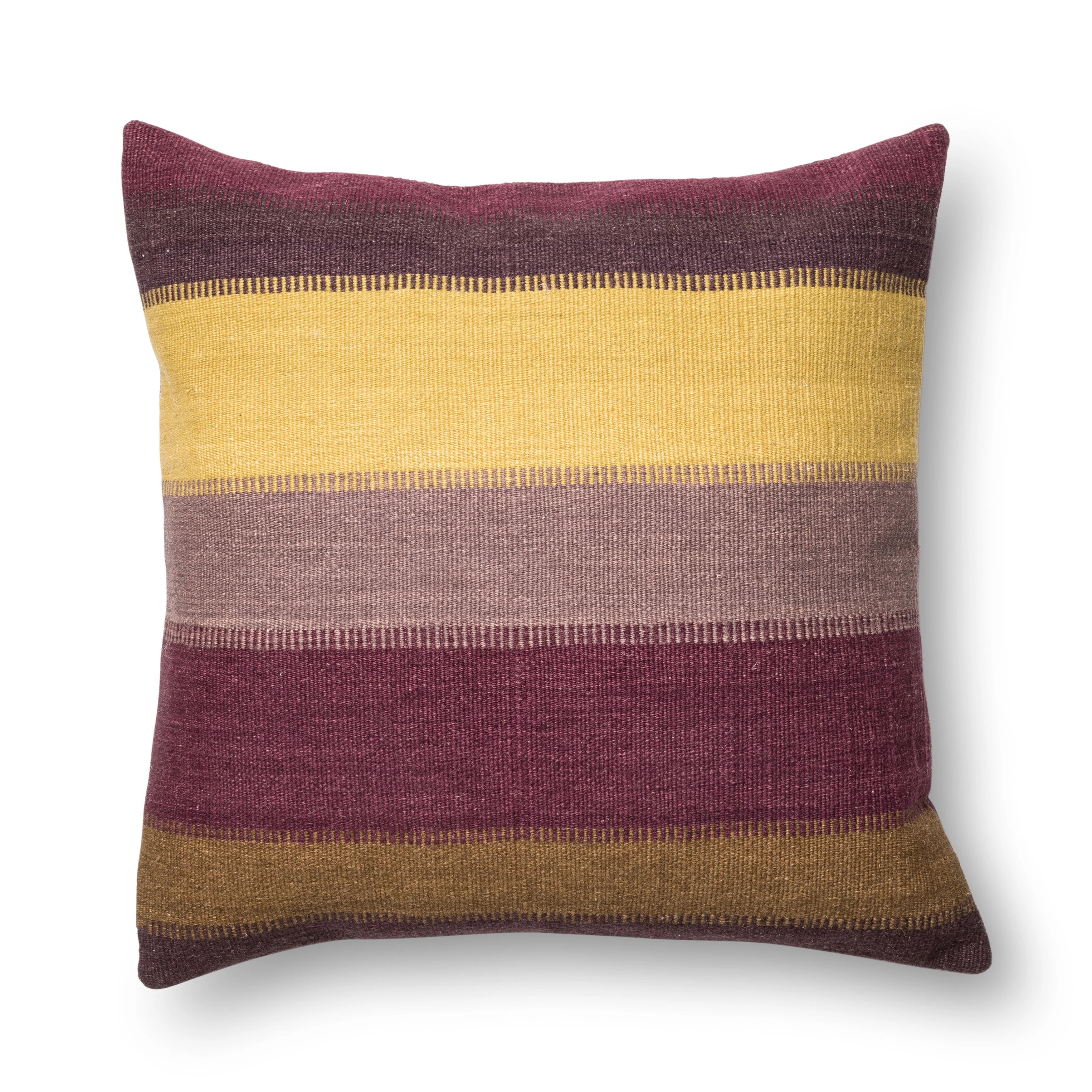 woven plum southwest stripe 22 inch throw pillow or pillow cover