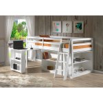 Roxy Solid Wood Junior Loft Bed With Desk Shelving And Bookcase Overstock 18105357