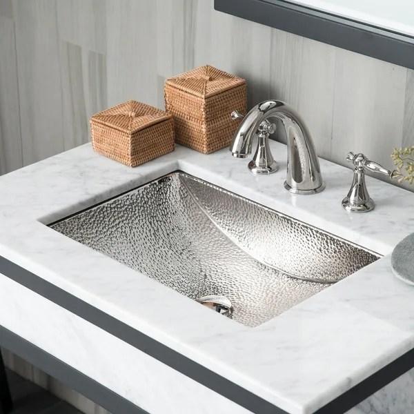 avila polished nickel undermount bathroom sink