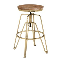 Aimes Wood and Metal Adjustable Stool