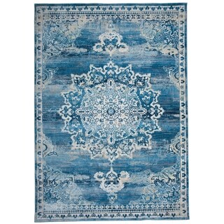 Blue Area Rug Traditional At