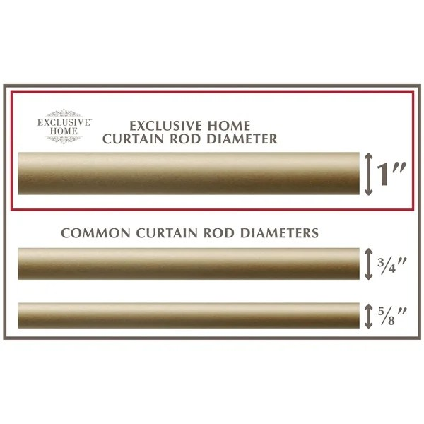curtain rod and finial set
