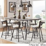 Harley Counter Height Dining Set With Wine Rack By Inspire Q Modern On Sale Overstock 18747630
