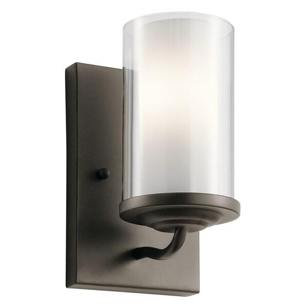 Shop Kichler Lighting Lorin Collection 1-light Olde Bronze ... on Kichler Olde Bronze Wall Sconce id=20396