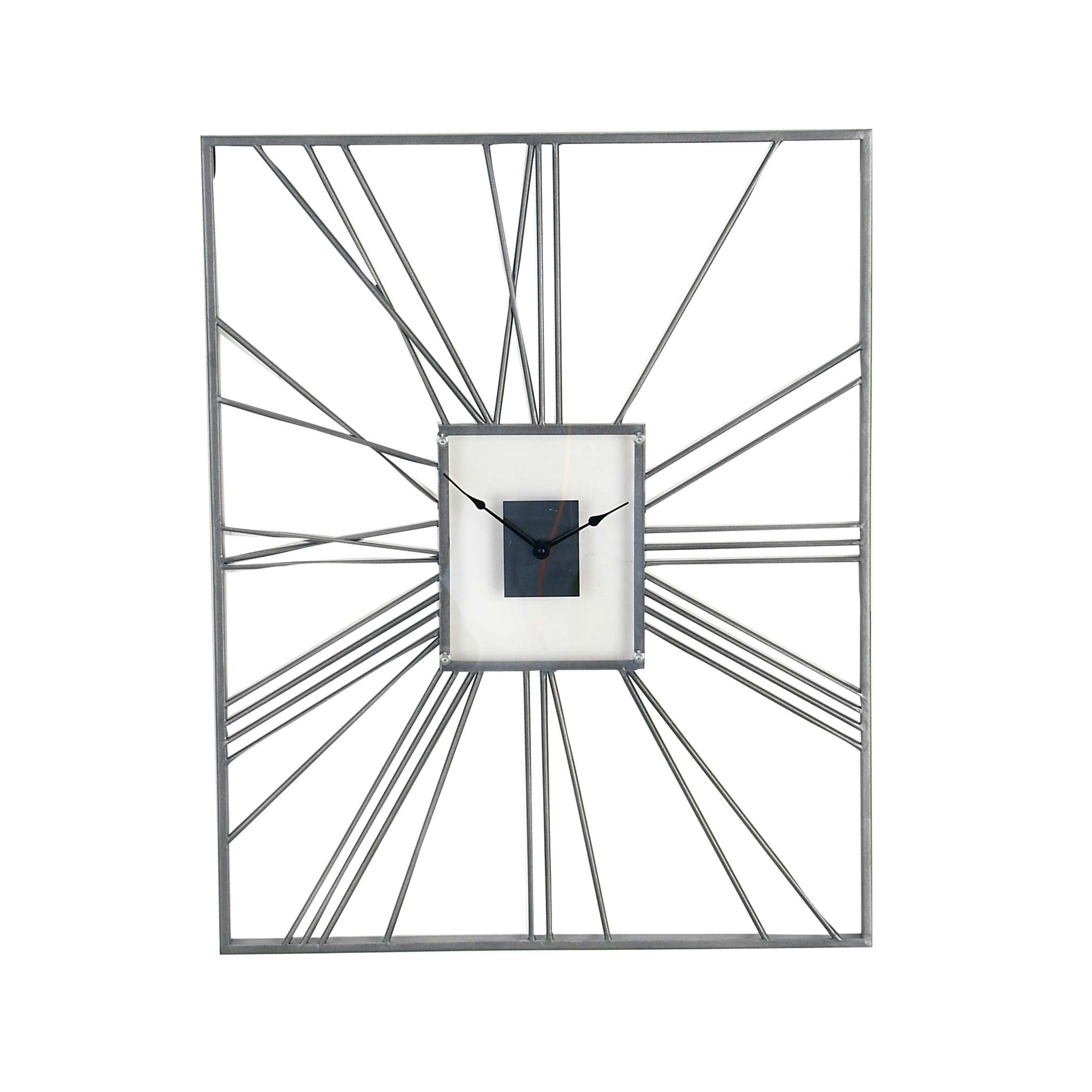 Shop Industrial Square Metal Wall Clock With Open Back