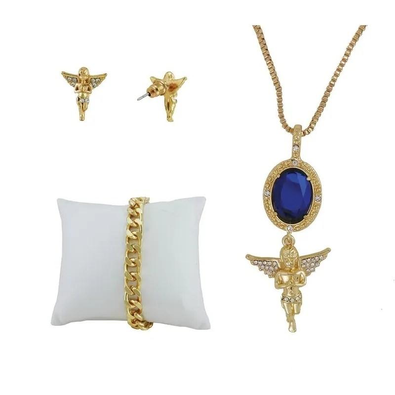 ashley princess ladies watch 4 piece gift set 1412 8229 ag ruby blue