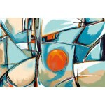 Shop Black Friday Deals On Divine Touch Sun Rays Abstract Contemporary Canvas Wall Art Overstock 19830320