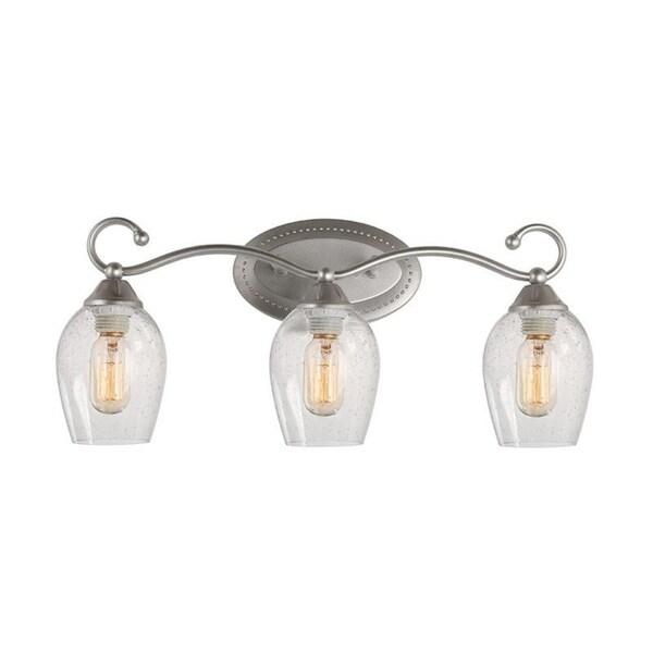 Shop LALUZ 3-Light Vanity Lights Wall Sconces Bathroom ... on Bathroom Wall Sconce Lighting id=11831