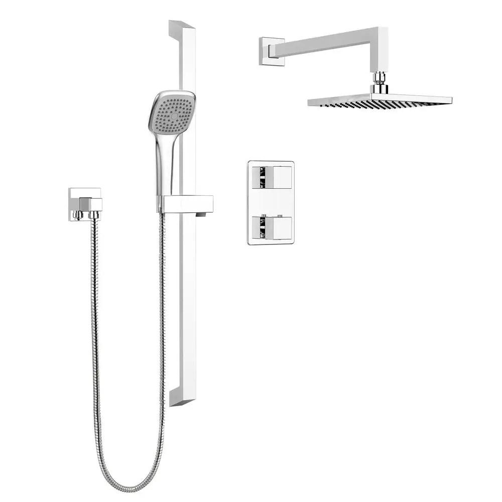 belanger quadrato thermostatic wall shower kit