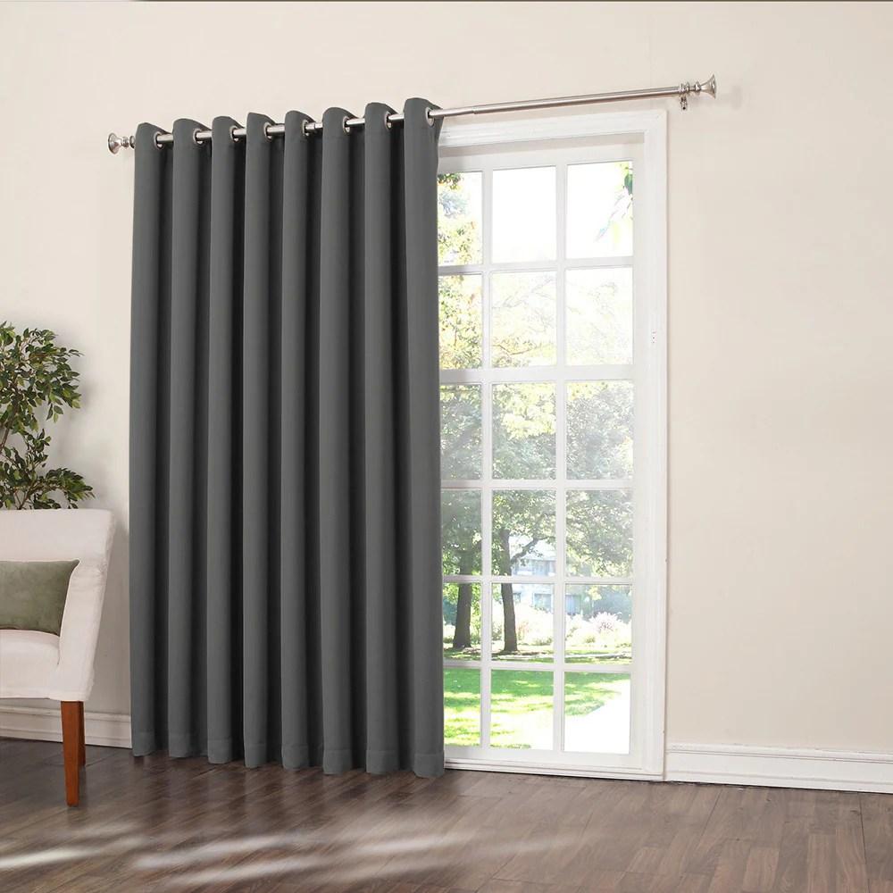 porch den nantahala rod pocket room darkening patio door single curtain panel