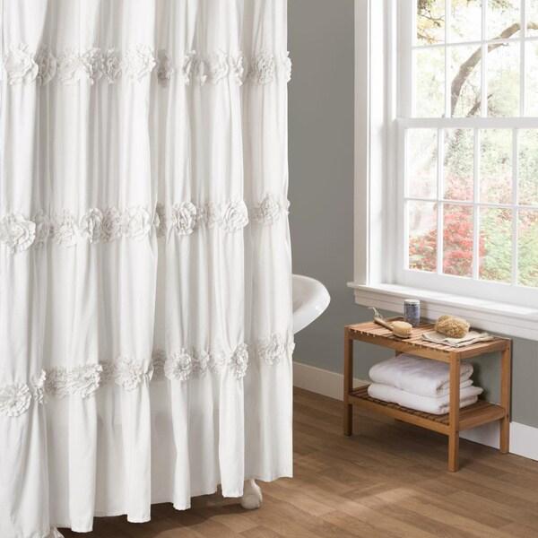white textured shower curtains find