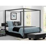 Shop Avenue Greene Gia Grey Metal Canopy Bed Overstock 20340116
