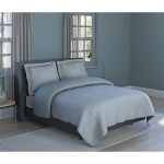 Grid Printed Texture Soft Microfiber Grey 3 Piece Comforter Set Inspired Surroundings By 1888 Mills Overstock 20478956