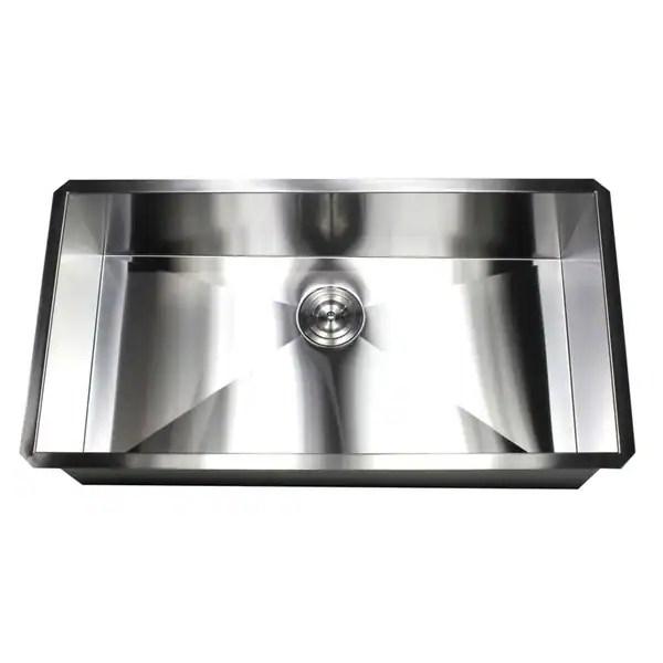 36 inch stainless steel 16 gauge single