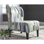 Triptis Geometric Pattern Blue Green Contemporary Accent Chair Overstock 20525762