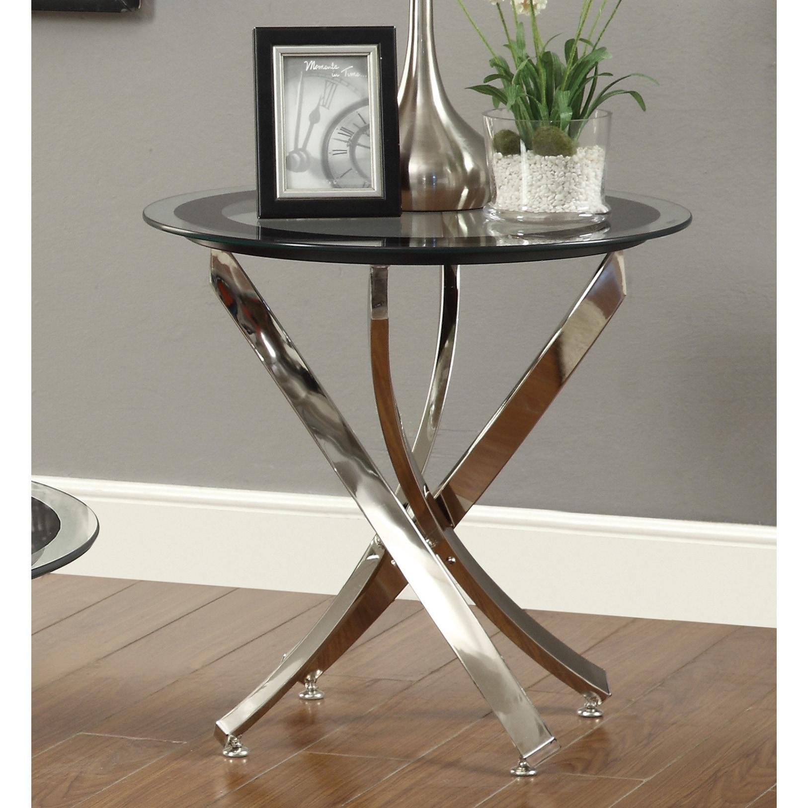 strick bolton mikeshin chrome glass end table