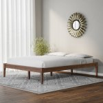 Baxton Studio Mid Century Modern Solid Wood Platform Bed Overstock 20543692 King
