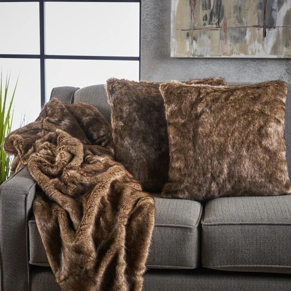 toscana 3piece furry blanket and pillow