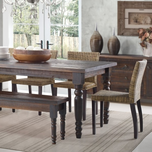 shop grain wood furniture valerie 63 inch solid wood on solid wood dining table id=73245