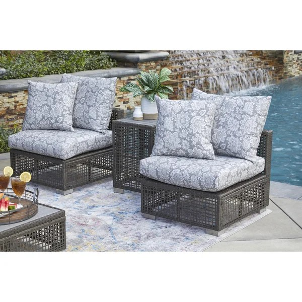 Shop Handy Living Aldrich Outdoor Grey Open Weave Rattan ... on Outdoor Living Wicker  id=79277