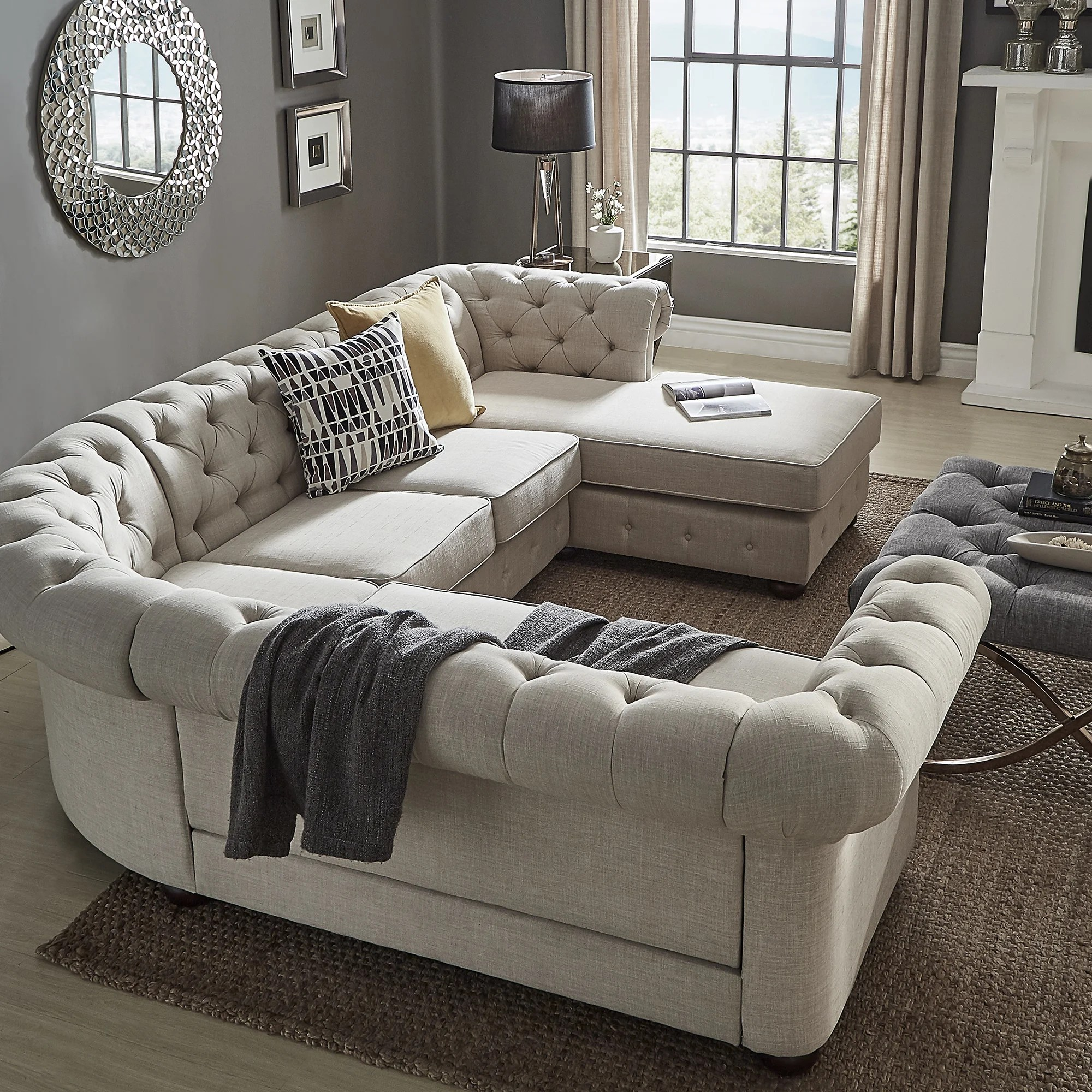 U Shaped Sectional Sofa Chaise