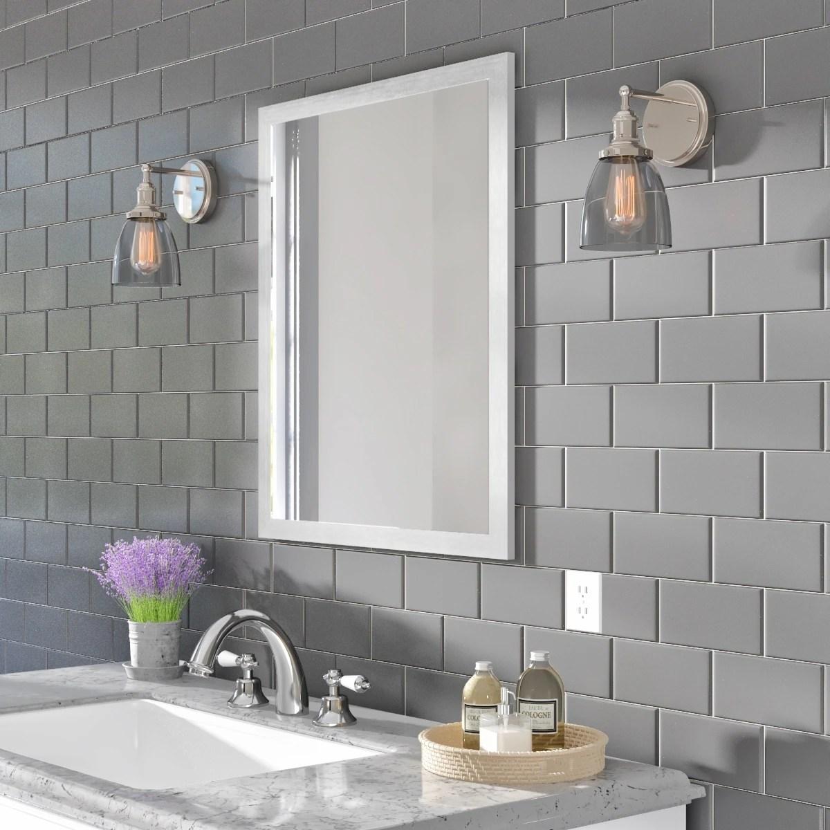 classic ceramic 3x6 inch wall tile in matte desert gray 3x6