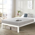 California King Size Bed Frame Heavy Duty Steel Slats Platform Series Titan C White Crown Comfort On Sale Overstock 20859134