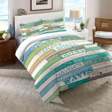 Shop Laural Home Rules of the Ocean Comforter   Free Shipping Today     Laural Home Rules of the Ocean Comforter