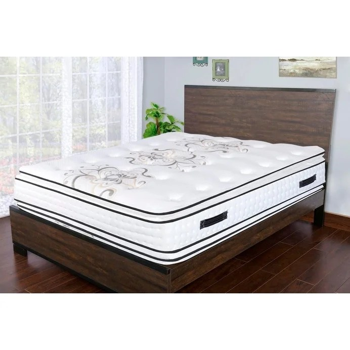 sleep therapy premium 17 5 inch memory foam pillow top double sided pockeded coil mattress king