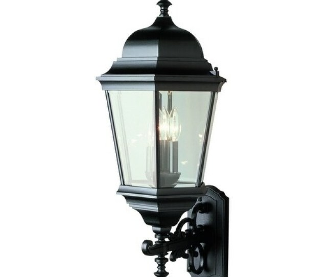 Classical Black 3 Light Wall Lantern