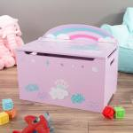 Toy Box Storage Bench Seat Kids Organization Chest Toys Stuffed Animals Clothes Blankets Bedroom And More By Hey Play Overstock 21611505