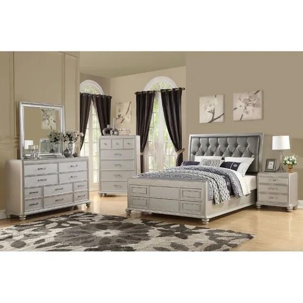 Avignon 4 Piece Modern Queen Size Bedroom Set in Rustic ...