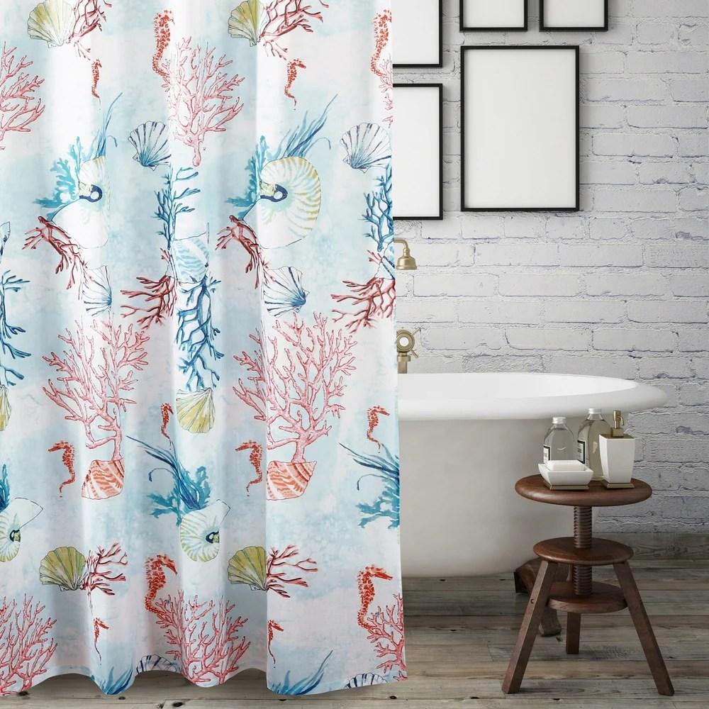 nautical coastal shower curtains