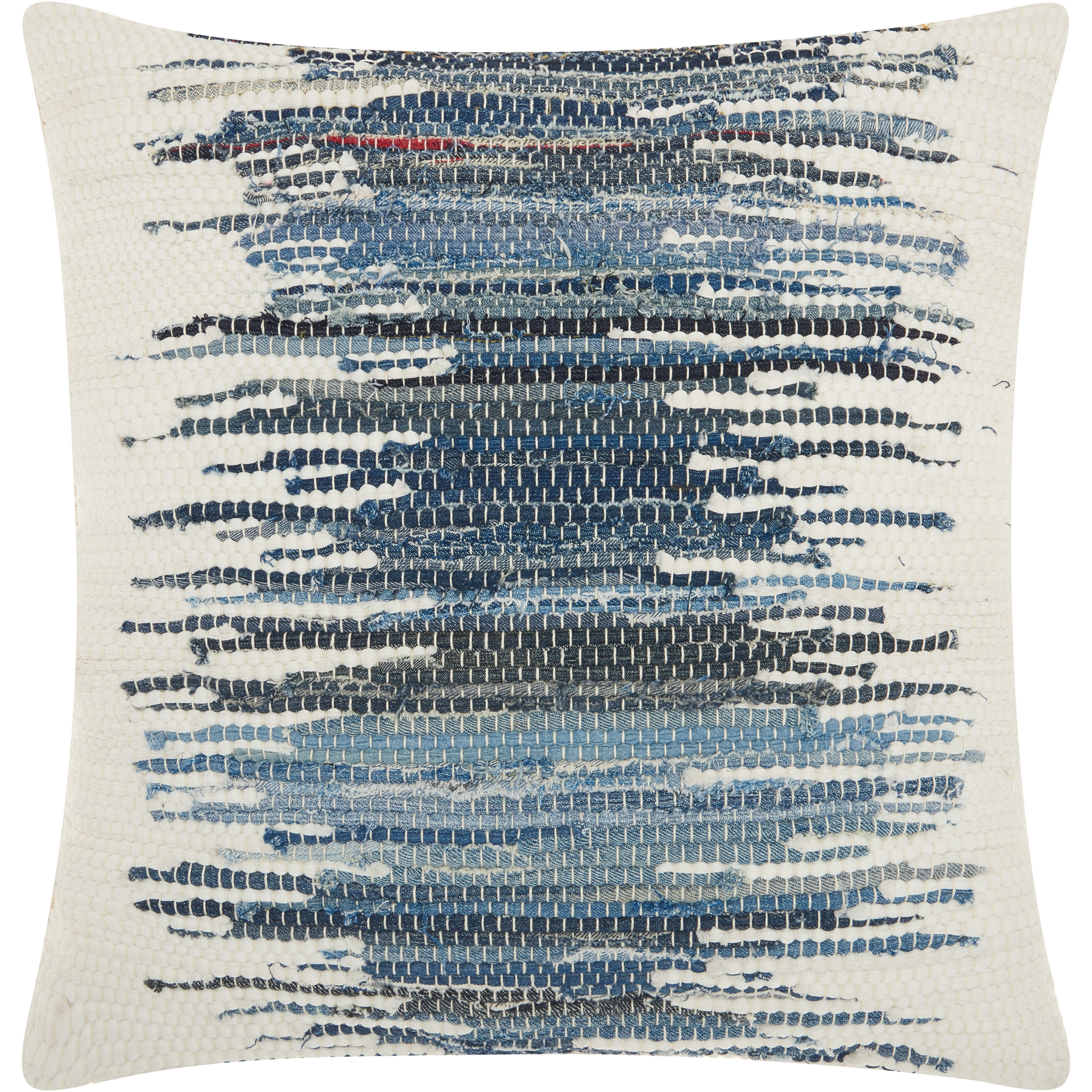 mina victory woven ombre denim blue throw pillow 20 inch x 20 inch