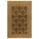 Pak Persian Yoshiko Green Gold Wool Rug 5 5 X 8 1 5 Ft 5 In X 8 Ft 1 In