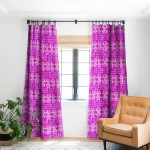 Schatzi Brown Justina Mark Hot Pink Blackout Curtain Panel Overstock 22046813
